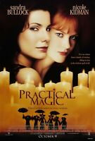 "Movie Poster 1998 ""Practical Magic"" with Sandra Bullock 13 X 19"