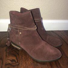 SOREL Farah Short Brown Suede Waterproof Boots Booties Women's Sz 8.5 NL2682-628