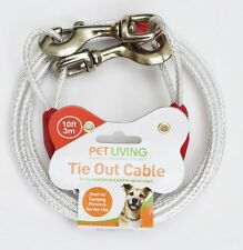 Tie Out Cable Dog/Cat/Pet (10ft) 3m X 5mm plastic cover