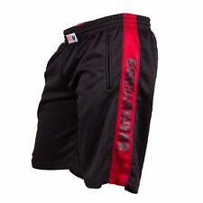 Gorilla Wear Track Shorts Black/Red Fitness Bodybuilding schwarz
