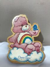 Vintage Care Bear Figurine American Greetings Cheer Bear Wooden Collectible