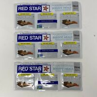 Lot of 3 Red Star Quick-Rise Instant Yeast bread (3 Strips Total) January 2022
