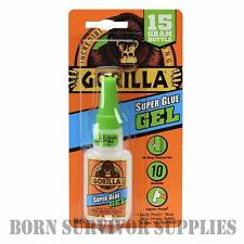 Gorilla Super Glue Gel 15g calidad no ejecutar fórmula Madera Metal Plástico de cerámica