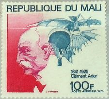 MALI 1975 517 C259 50th Day of Death Clément Ader French Aviation Pioneer MNH