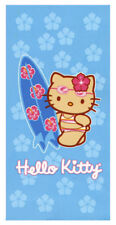 HELLO KITTY Serviette Plage Bleue KITTY SURF  150x75 cm
