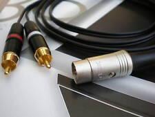 2 Phono/RCA to Bang & Olufsen B&O Lead (5 pin din) 1m