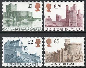 1992 High value castles set u/m cat £37.50