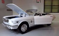 1:24 Maßstab Ford Mustang 1964 Cabrio Cabrio Druckguss Modell Auto 73212 weiß