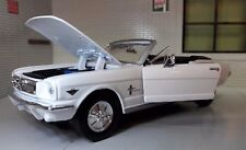 1:24 Scale Ford Mustang 1964 Convertible Cabrio Diecast  Model Car 73212 white