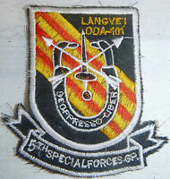 Patch - US SPECIAL FORCES - Lang Vei - Laos Border - Tet - Vietnam War - 0715
