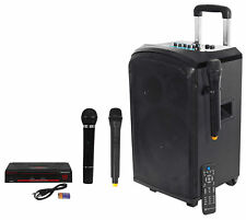 "Rockville 10"" Portable YouTube Bluetooth Karaoke Machine/System+(3) Microphones"