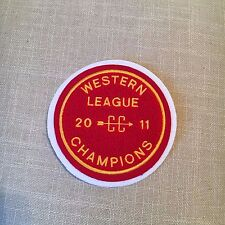 "Varsity Chenille Western League Champions 2011 Patch 5"" diameter"