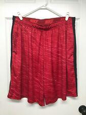 Nike DRI-FIT #620451 Men's Long Fly Printed Training Shorts: XXL/2XL, Red