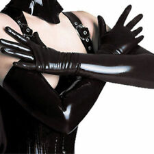LONG BLACK LATEX GLOVES L WET LOOK GOTH TRANSVESTITE BONDAGE FETISH DOMINATRIX