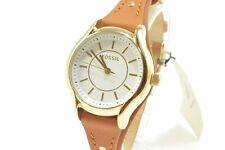 Fossil BQ3067 Gold Tone Dark Brown Leather Ladies Watch