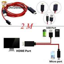 Micro USB SlimPort to HDMI HD TV Video Cable for Samsung Galaxy S4 S5 S3 Note2/3