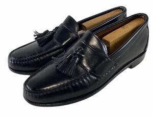 Allen Edmonds Stowe Black Leather Tassel Loafer Shoes Mens Size 9 B Made in USA