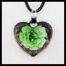 Fashion Women's Love lampwork Murano art glass beaded pendant necklace #A113