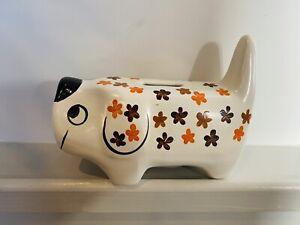 Arthur Wood Vintage Ceramic Sausage Dog Money Box Gift No 5279 Christmas Gift