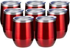 12oz/8 Pack Wine Tumbler Glasses  Wall Vacuum Stainless Steel Travel Tumbler -