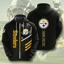 Pittsburgh Steelers Hoodie Sports Sweatshirt Pullover Football Hooded Jacket