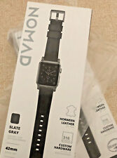 Nomad Horween Leather Strap Modern for Apple Watch 1,2,3,4 - 44-42mm -BLK GRAY