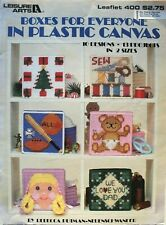 Boxes for Everyone in Plastic Canvas Pattern Book Leisure Arts #400 13 projects