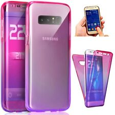 For Galaxy Note 8 360 Full Protective Ultra-thin Silicone Soft TPU Gradient Case