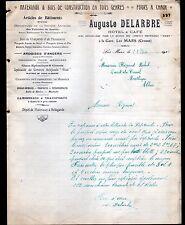 """LES MARS (23) FOUR à CHAUX / BOIS / HOTEL & CAFE """"Auguste DELARBRE"""" en 1912"""