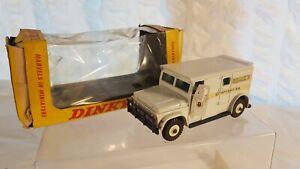 Die cast 1970's Dinky toys 275 BRINKS ARMOURED CAR nice in complete used or. Box