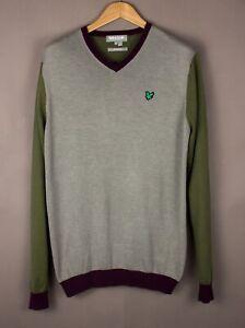LYLE & SCOTT Men Performance Casual Knit Jumper Sweater Size L ASZ1780