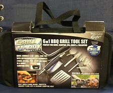Grill Daddy Ultimate 6pc Bbq Set Barbecue Heat Shield Tools w/ Hand Grill Guard