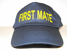 First Mate Navy baseball hat cap ideal fancy dress up costume Boating holiday -