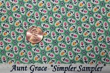 """AUNT GRACE """"SIMPLER SAMPLER"""" QUILT FABRIC CIRCA 1930's BTY FOR MARCUS 5872-0314"""