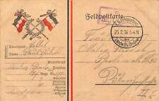 Patriotic Military Souvenir, Feldpostkarte, Feldpost, flags 1916