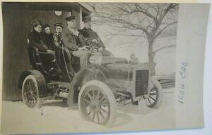 1904 CADILLAC TOURING CAR. Real Photo Post Card.