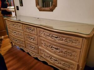 bedroom set queen furniture used