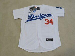 LA DODGERS Legend 'FERNANDOMANIA' #34 VALENZUELA Stitch White Jersey Men M NEW^