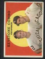 1959 Topps #408 Nellie Fox/Luis Aparicio EX/EX+ White Sox Keystone Combo 72502