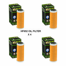 KTM 250 SXF FITS 2013 TO 2018 HIFLOFILTRO OIL FILTER  HF652  4 PACK