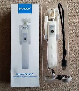 Mpow Isnap Y bluetooth selfie stick white  extendable monopod  New in box
