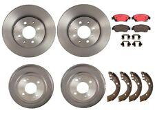 Brembo Brake Kit Front Disc Rotors Ceramic Pads & Rear Drums Shoes For Honda Fit