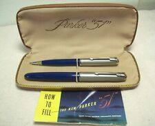 "1949~PARKER ""51""~AEROMETRIC FOUNTAIN PEN & REPEATER PENCIL w/BOX & INSTRUCTIONS"
