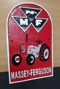 ** MASSEY FERGUSON TRACTOR ** VINTAGE STYLE CAST IRON SIGN FARM BUILDINGS