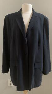 NWT Jones New York Women's Sz 22W Carbon Gray Button Lined Longer Blazer Jacket