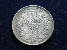 India x 2  1909 One Rupee 1936 1/4 Rupee           (GR33)
