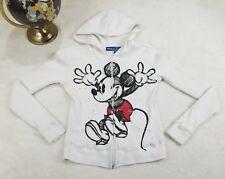 Disney Girls S Zip Up Jacket Mickey Mouse Waffle Weave Thermal Hoodie Sweatshirt