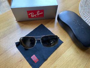 Genuine Gunmetal Ray-Ban RB 3445 Sunglasses; 61x17; Case Cloth