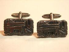 dekorative, alte Manschettenknöpfe, 70iger Jahre, 835iger Silber