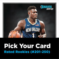 Pick Your Card - 2019-20 Panini Donruss Rated Rookies Basketball Cards